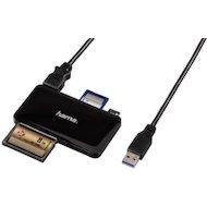 Картридер Hama H-114837 SD всех стандартов Slim USB 3.0 черный