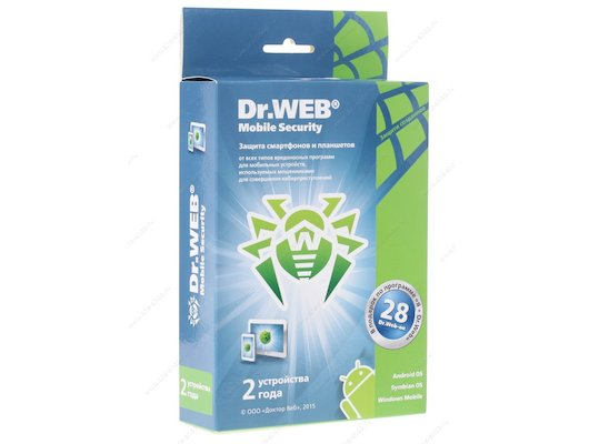 Компьютерное ПО DR.Web Mobile Security (24мес) (BHM-AA-24M-2-A3)