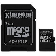 Карта памяти Kingston microSDHC 16Gb Class 10 + адаптер (SDC10G2/16GB)