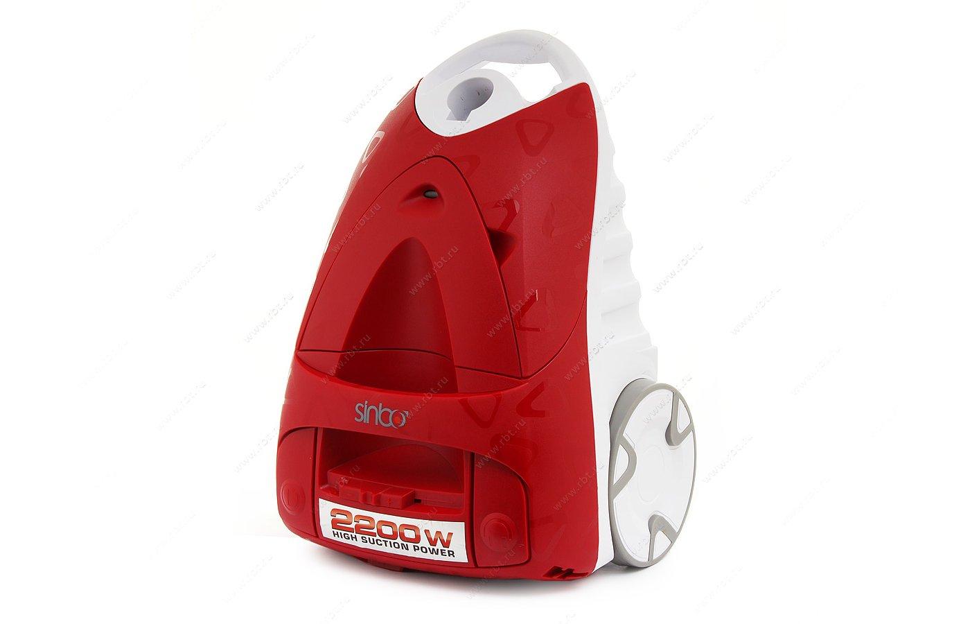 Пылесос SINBO SVC-3469 красный/белый