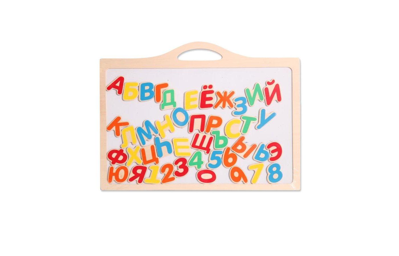 Игрушка Altacto Creative ALT1304-100 Деревянная игрушка. Магнитная доска Алфавит + Цифры