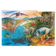 Фото Пазлы Altacto PN140P Пазл - коврик Динозавры