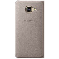 Фото Чехол Samsung Flip Wallet для Galaxy A7 (2016) SM-A710 золотой (EF-WA710PFEGRU)