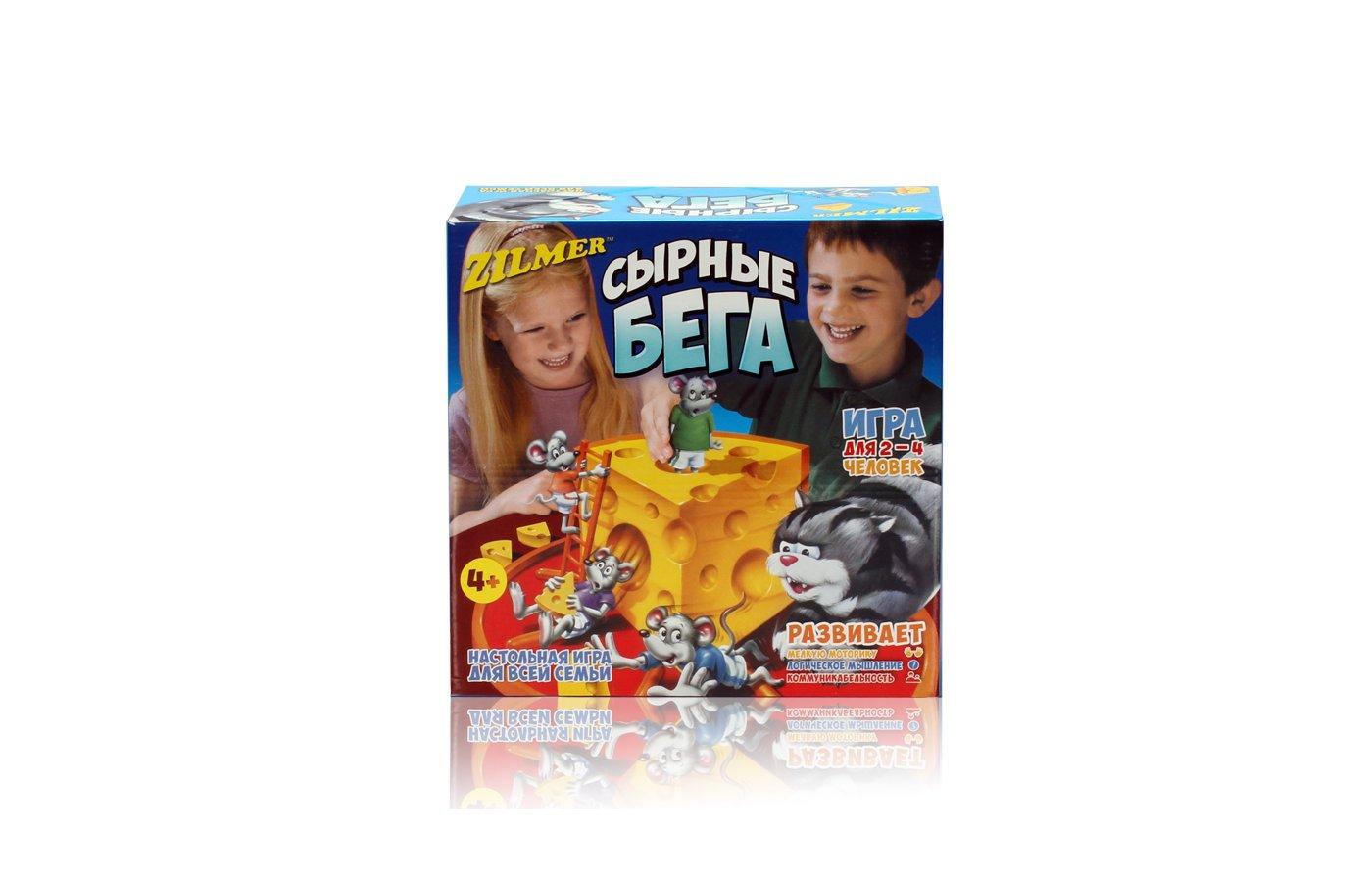 Настольная игра Zilmer ZIL0501-012 Игра для детей и всей семьи Сырные бега