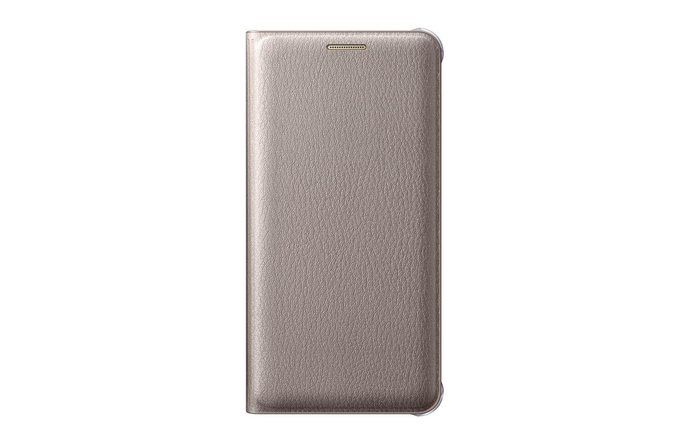 Чехол Samsung Flip Wallet для Galaxy A7 (2016) SM-A710 золотой (EF-WA710PFEGRU)