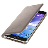 Фото Чехол Samsung Flip Wallet для Galaxy A3 (2016) SM-A310 золотой (EF-WA310PFEGRU)