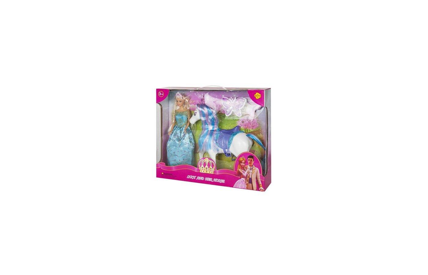 Кукла DEFA LUCY 8209 Кукла Принцесса с лошадкой