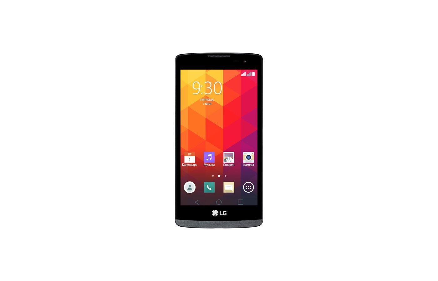 Смартфон LG H324 Leon black titan