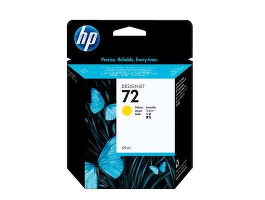 Картридж струйный HP 72, 69 мл. с желтыми чернилами (C9400A)