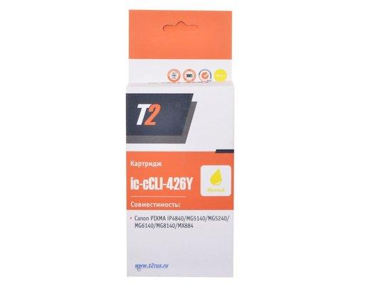Картридж струйный T2 совместимый IC-CLI-426Y Yellow (с чипом)