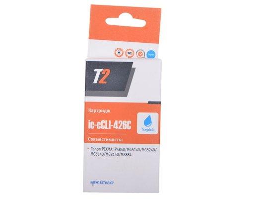 Картридж струйный T2 совместимый IC-CLI-426C Cyan (с чипом)