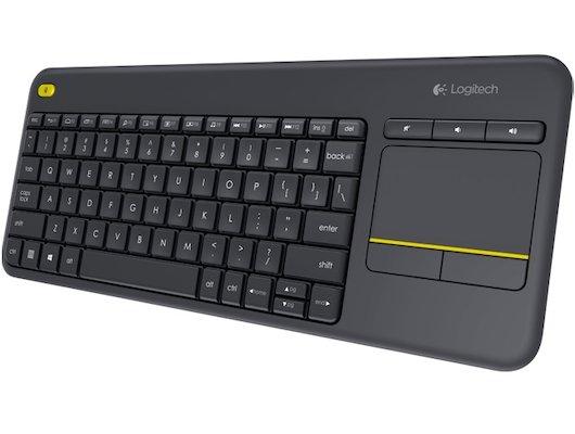 Клавиатура беспроводная Logitech K400 Plus черная для телевизоров