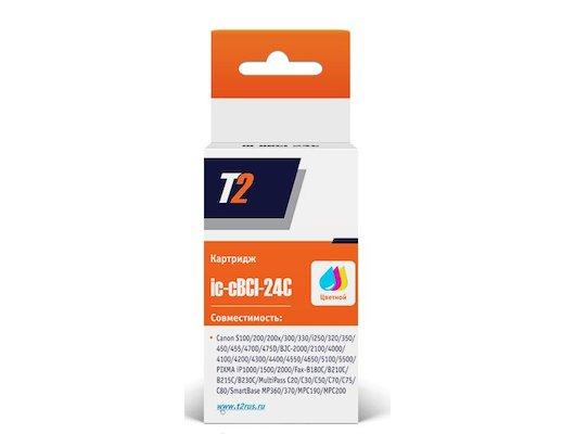 Картридж струйный T2 совместимый IC-CBCI-24C Цветной