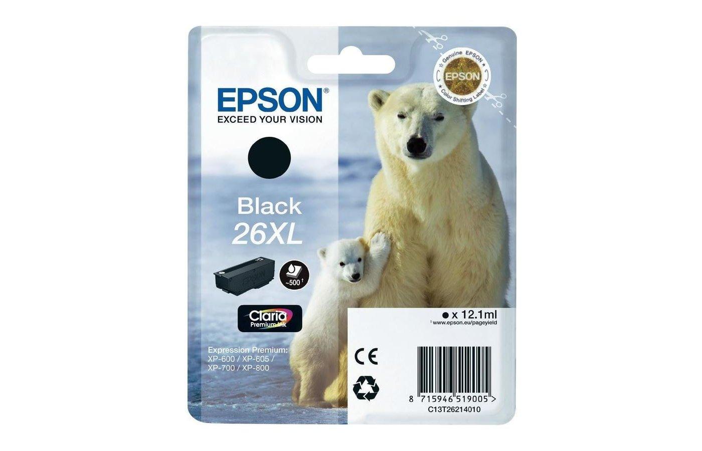 Картридж струйный Epson C13T26214010 картридж (Black XL для XP600/7/8 (черный))