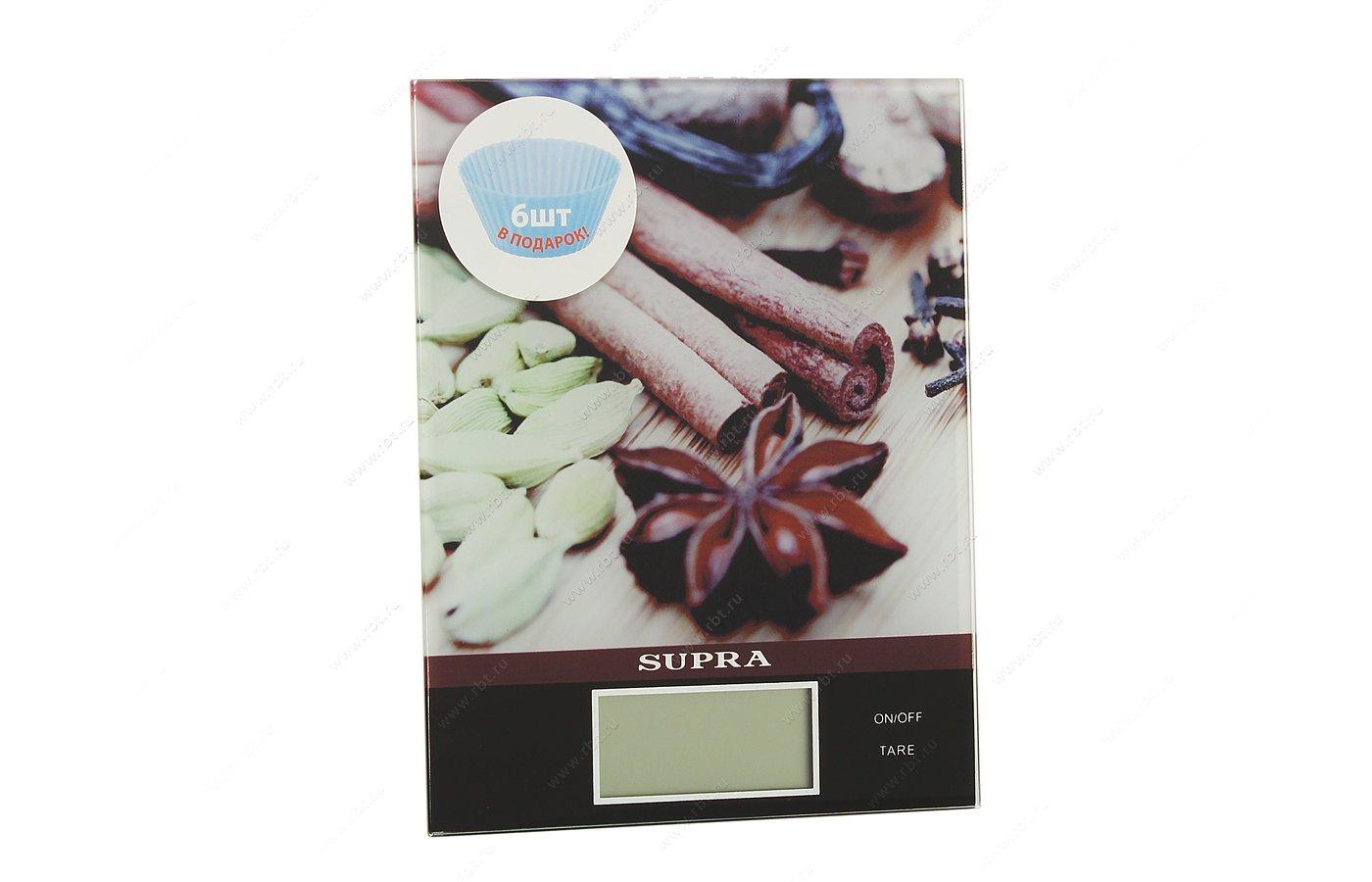 Весы кухонные SUPRA BSS-4097 brown