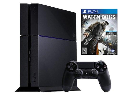 SONY PlayStation 4 500 Gb Black (CUH-1208A) + игра WatchDogs