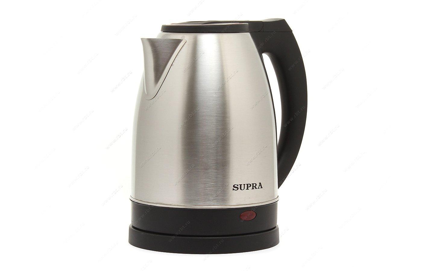 Чайник электрический  SUPRA KES-2231 steel/red