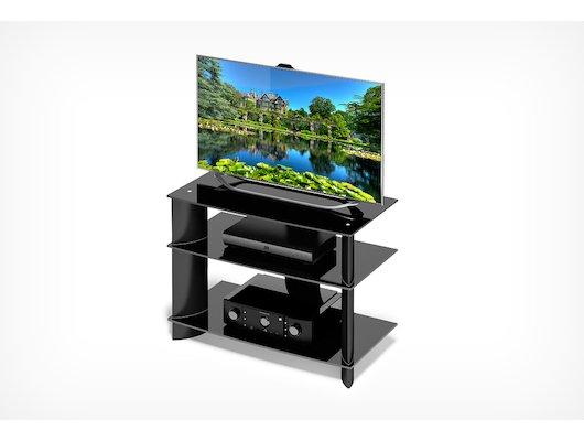 Телемебель Holder TV-1585-C черный+черн. стекло