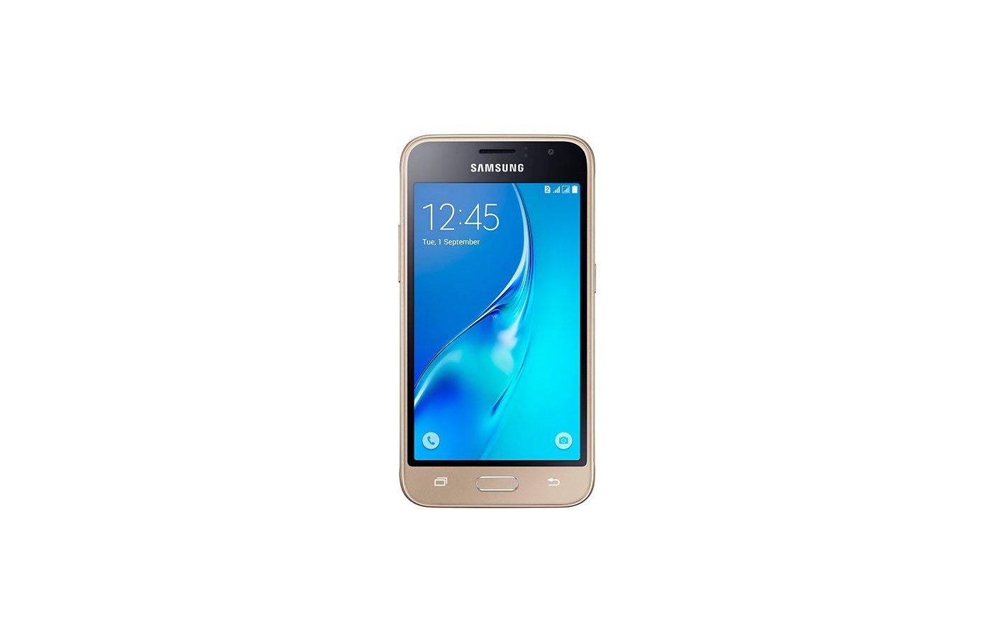 Смартфон Samsung Galaxy J1 (2016) SM-J120F золотой
