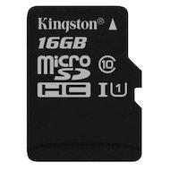 Карта памяти Kingston microSDHC 16Gb Class 10 (SDC10G2/16GBSP)