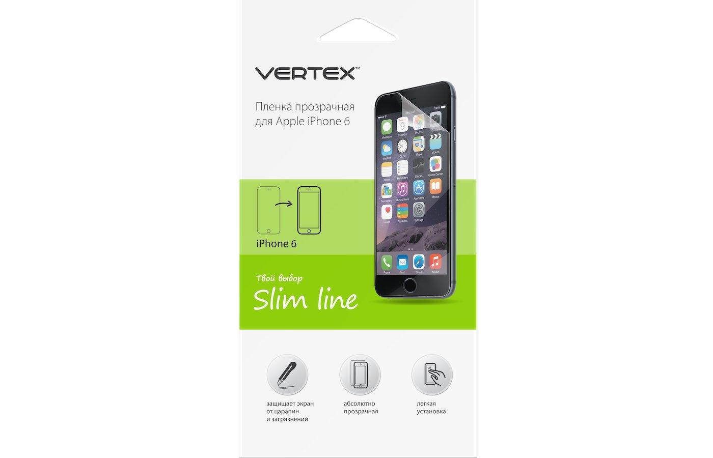 Стекло VERTEX пленка для iPhone 6/6S прозрачная