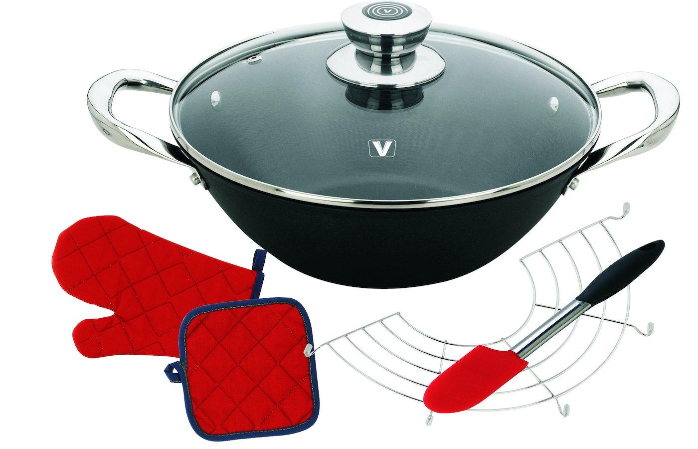 Сковорода WOK VITESSE VS-2333 Вок с кр.28 см 3.6 л. чугун