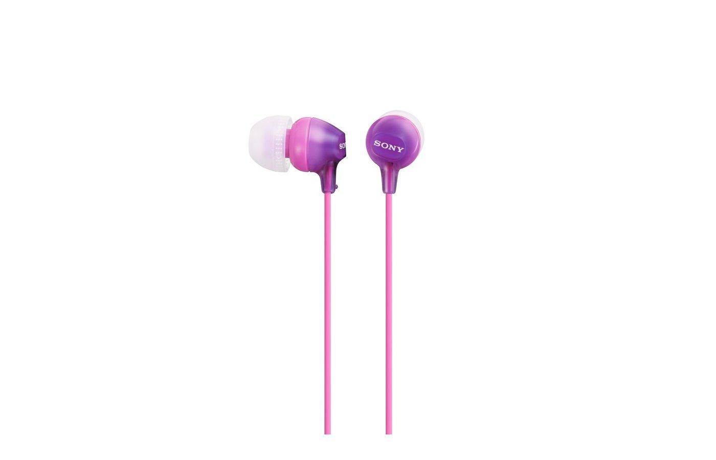 Наушники вкладыши SONY MDR-EX15LP фиолетовый