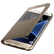 Фото Чехол Samsung S-View для Galaxy S7 Edge (SM-G935) (EF-CG935PFEGRU) золотой