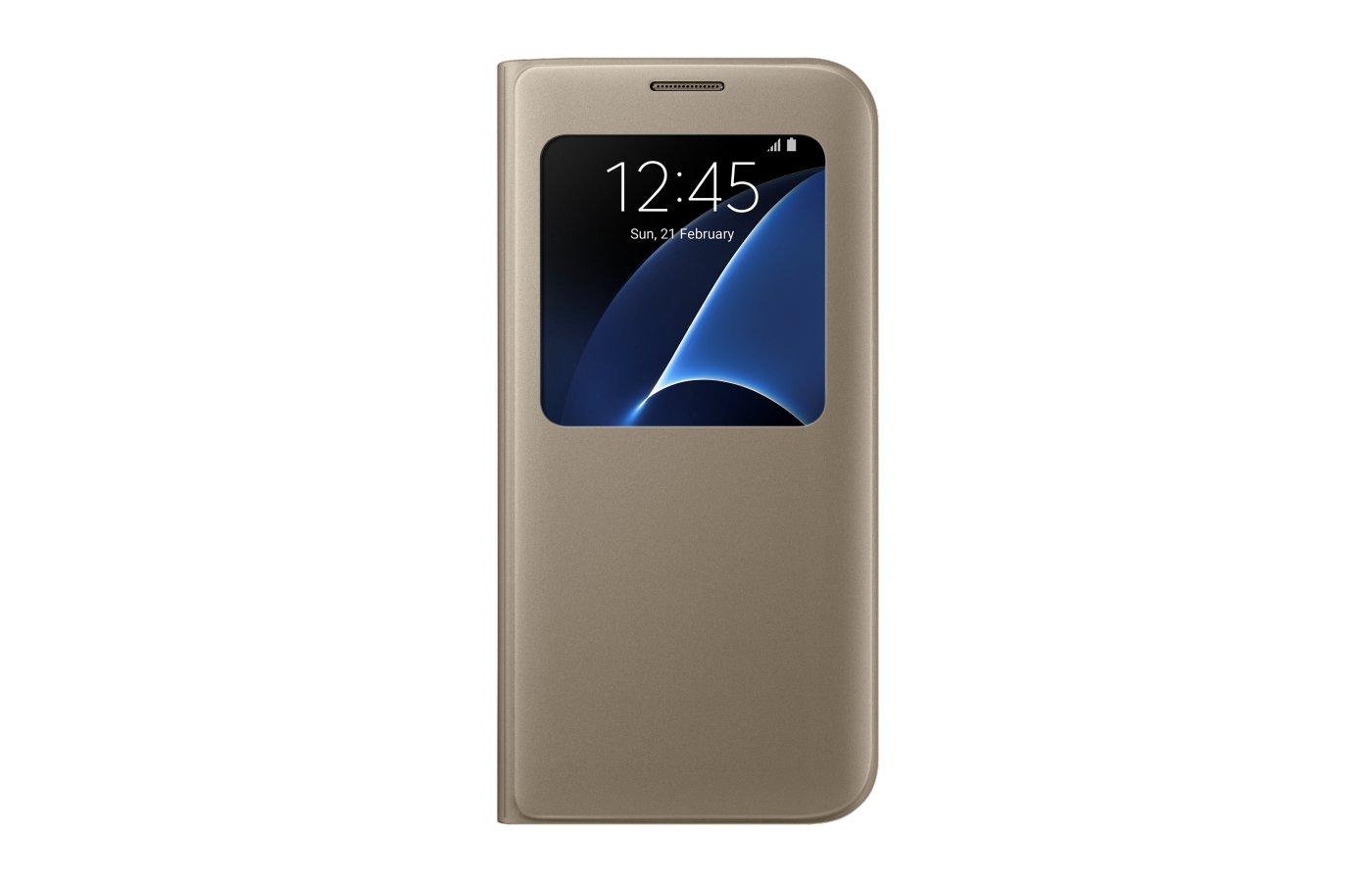 Чехол Samsung S-View для Galaxy S7 Edge (SM-G935) (EF-CG935PFEGRU) золотой