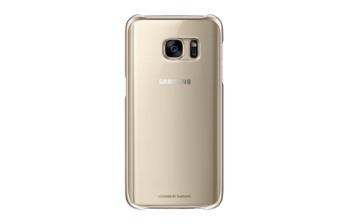 Чехол Samsung СlCover для Galaxy S7 (SM-G930) (EF-QG930CFEGRU) золотой
