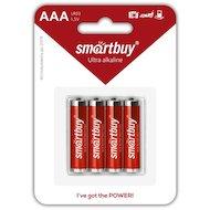 Батарейка Smartbuy AAA 4шт. LR03/4B (SBBA-3A04B)