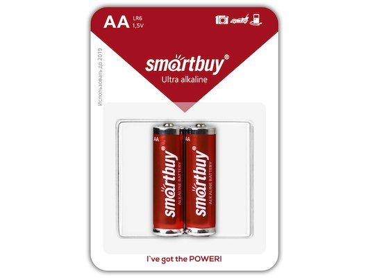 Батарейка Smartbuy AA 2шт. LR6/2B (SBBA-2A02B)