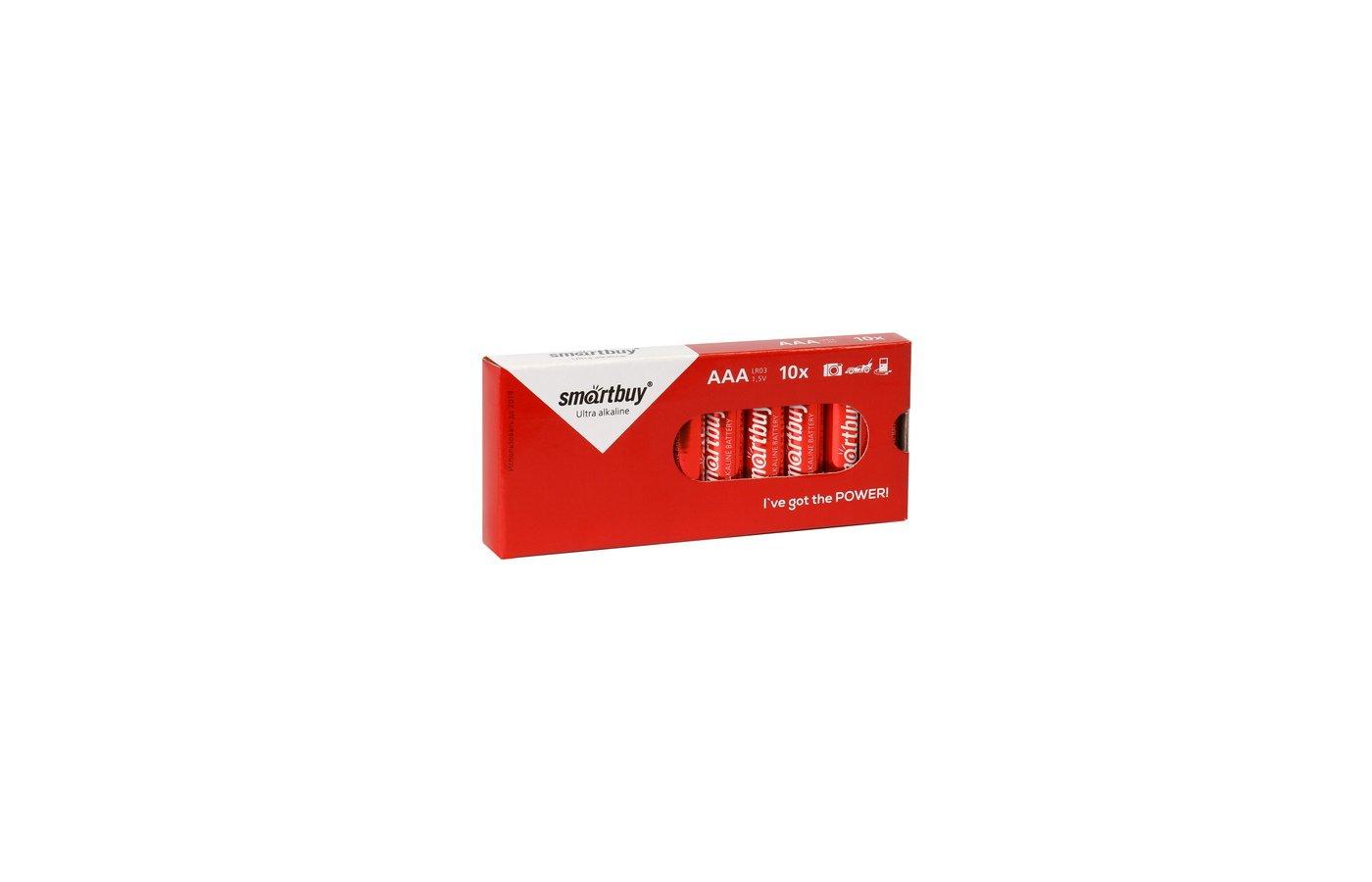 Батарейка Smartbuy AAA 10шт. LR03/10B (SBBA-3A10BX)