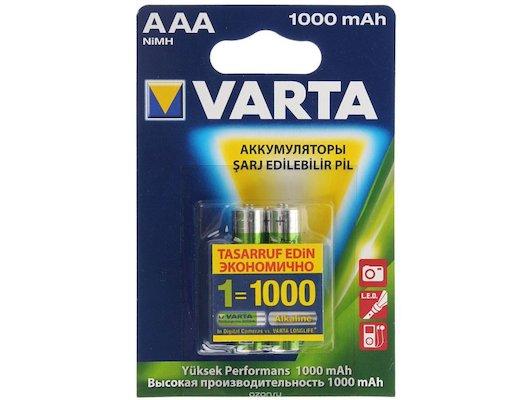 Аккумулятор VARTA AAA 1000mAh Ni-Mh 2шт.