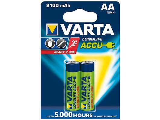Аккумулятор VARTA AA 2100mAh Ni-Mh 2шт.