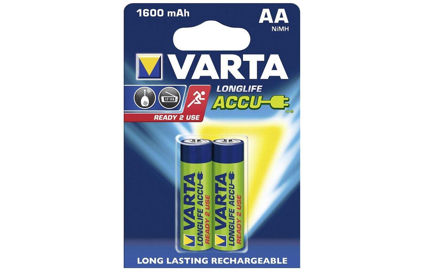 Аккумулятор VARTA AA 1600mAh Ni-Mh 2шт.