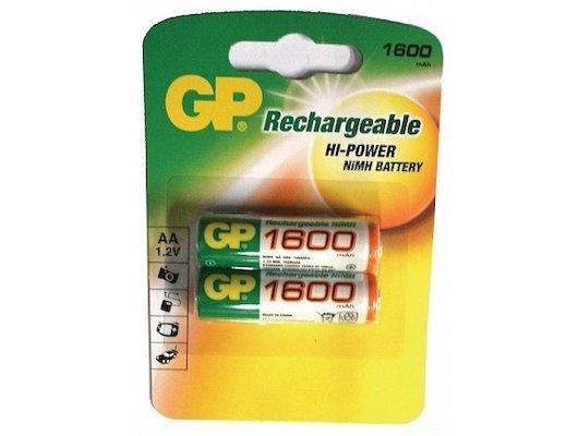 Аккумулятор GP AA 1600mAh Ni-Mh 2шт. (160AAHC-2CR2)