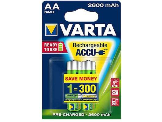 Аккумулятор VARTA AA 2600mAh Ni-Mh 2шт.