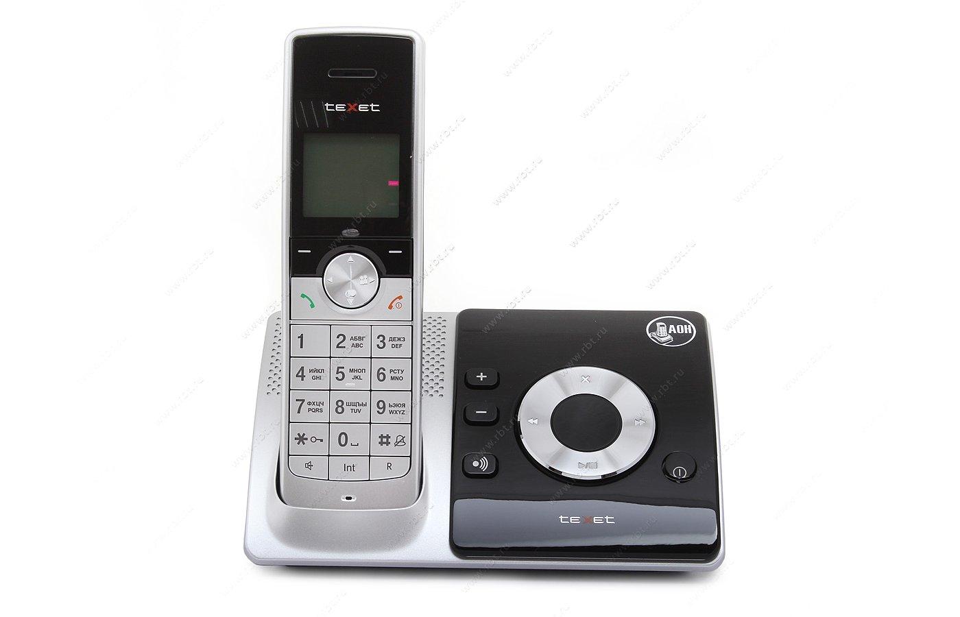 Радиотелефон TeXet TX-D7455A черно-серебристый