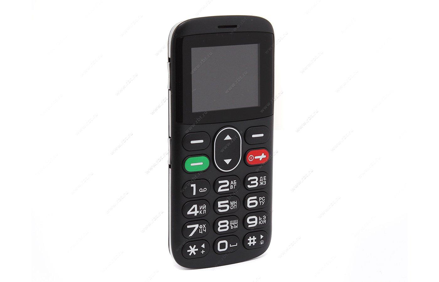 Мобильный телефон Vertex C303 черный/серебро