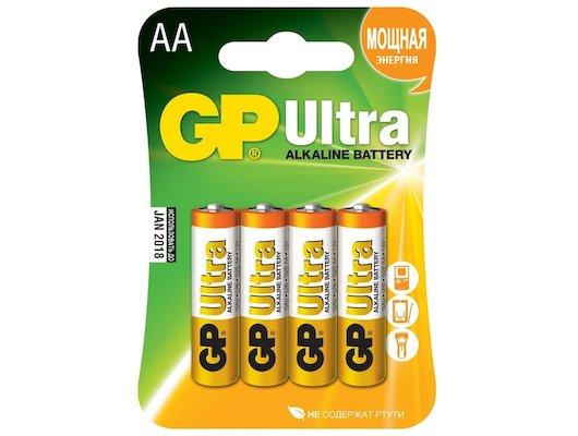 Батарейка GP Ultra AA 4шт. LR6/4BL (15AUGL-2CR4)
