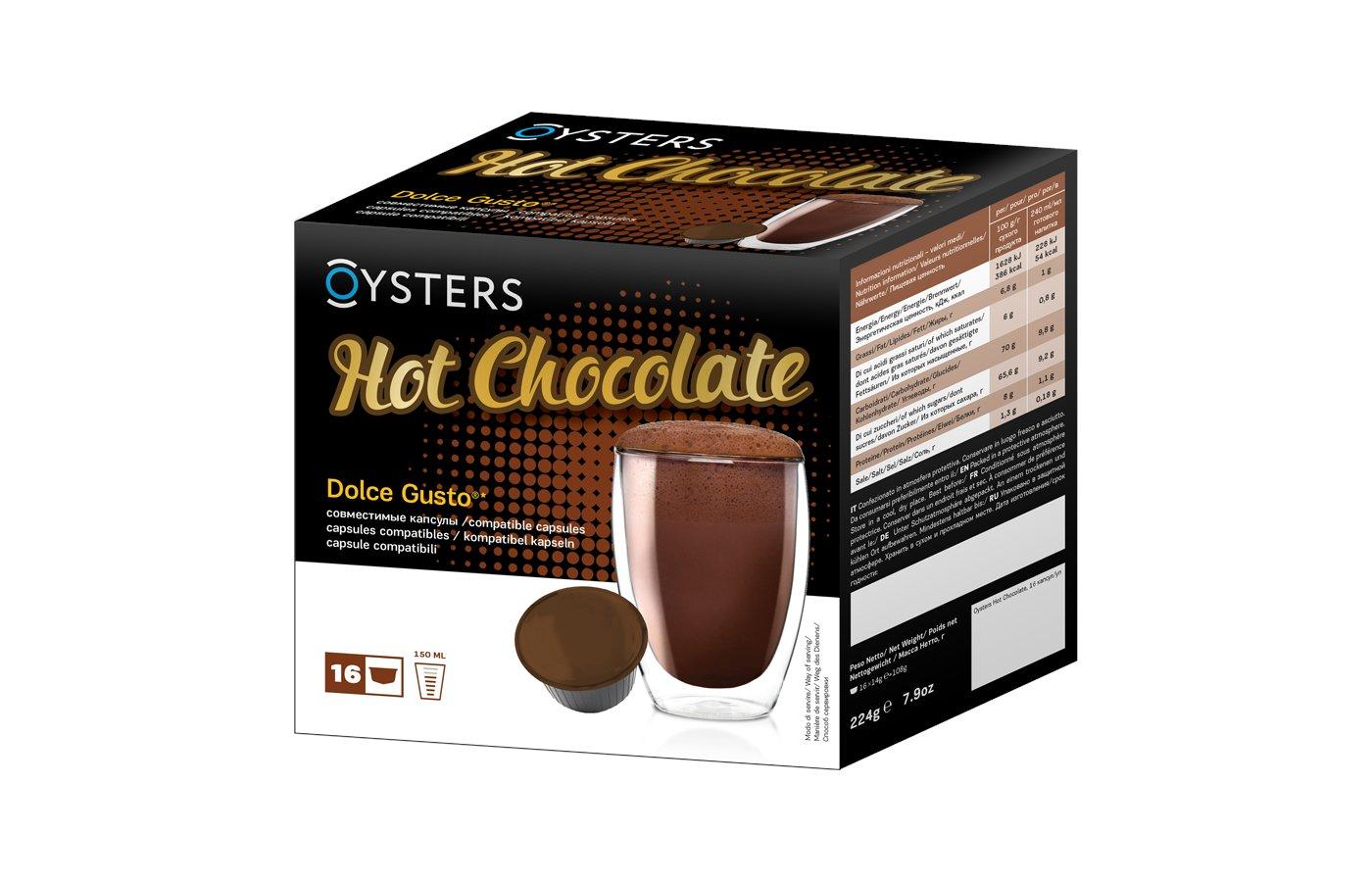 капсулы для кофеварок Oysters Hot Chocolate 16 капсул