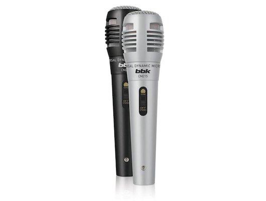 Микрофон BBK CM215 2.5м. 2шт. черный/серебристый