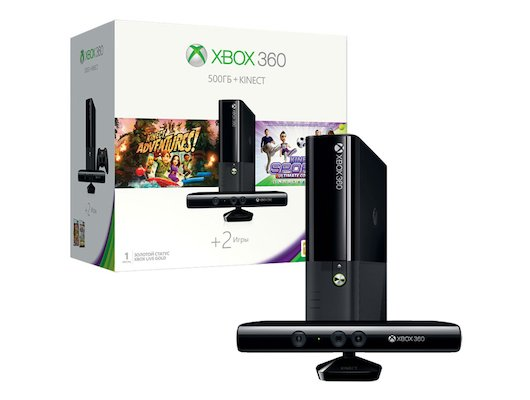 Xbox 360 4ГБ + Kinect + 500ГБ жесткий диск + Kinect Adventures Forza Horizon и Kinect Sports