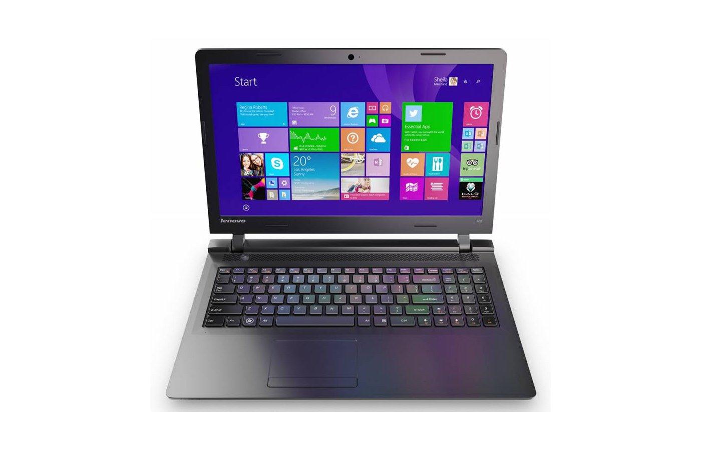 Ноутбук Lenovo IdeaPad 100-15 /80MJ005HRK/ intel N3540/4Gb/500Gb/GMA HD/DVDRW/15.6/WiFi/Win8