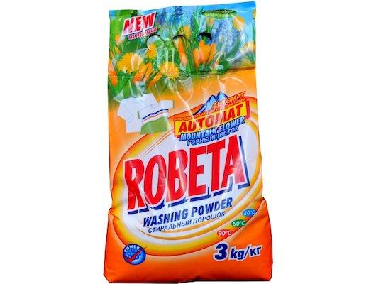 Средства для стирки и от накипи ROBETA automat горный цветок унивевсальный стиральный порошок 3 кг