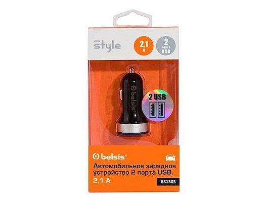 Зарядное устройство BELSIS АЗУ 2xUSB 2.1A (BS1303) черный