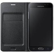 Фото Чехол Samsung Flip Wallet для Galaxy J3 (2016) SM-J320 черный (EF-WJ320PBEGRU)