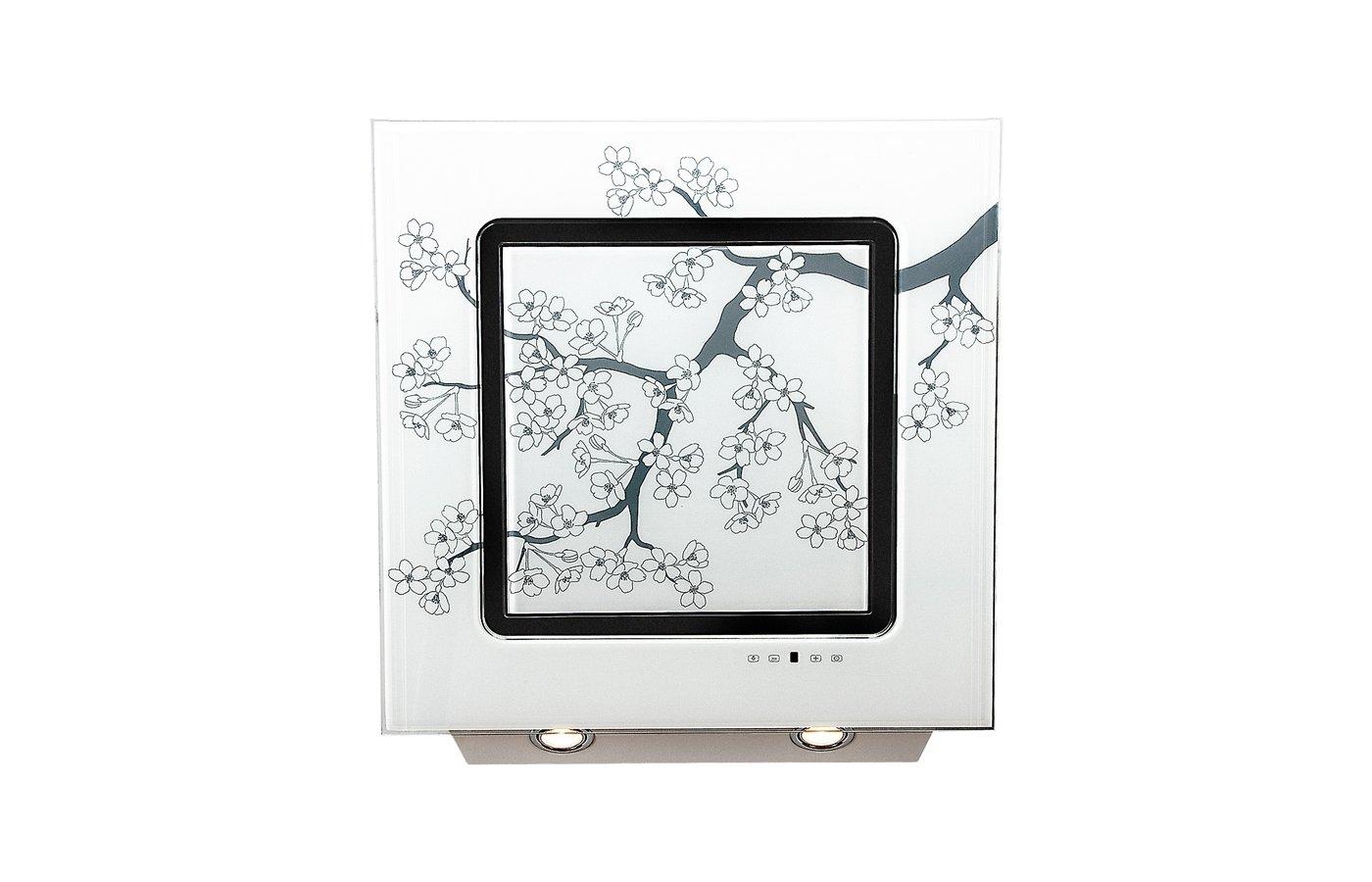 Вытяжка ELIKOR Оникс ART 60П-1000-Е4Г белый/сакура