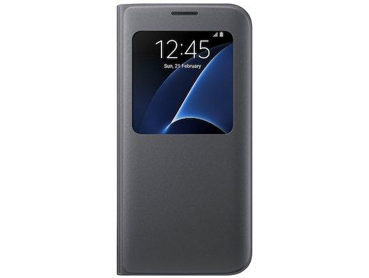Чехол Samsung S-View для Galaxy S7 Edge (SM-G935) (EF-CG935PBEGRU) черный